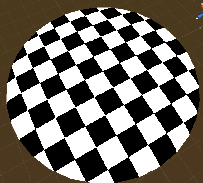 checkerboard pattern on a material