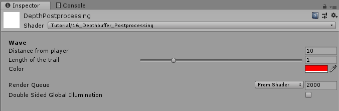 Postprocessing with the Depth Texture